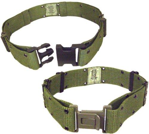 Style Nylon Pistol Belt - Genuine Military Style G.I. Nylon Q.R. Pistol Belt, Olive, Medium
