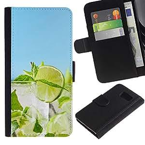 KLONGSHOP // Tirón de la caja Cartera de cuero con ranuras para tarjetas - Cóctel de cal - Sony Xperia Z3 Compact //