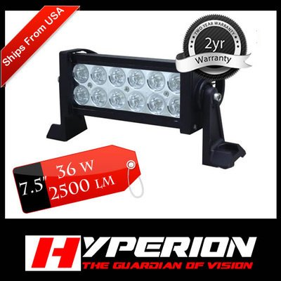 "7.5"" Led Off Road Led Light Bar Flood/spot Combo Beam- 3w Led-36w-2500 Lumen"