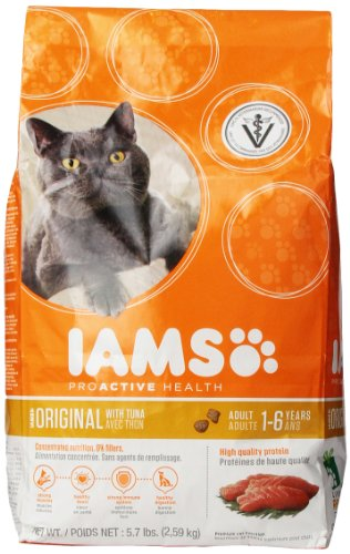Iams ProActive Health Adult Original Tuna Premium Cat Nutrition Food 5.7-Pound