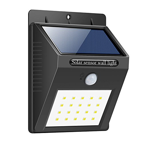 Cheap Solar Lights,Trswyop 20 LED Motion Sensor Security Lights Waterproof Solar Powered Lights Outdoor Lights for Garden,Patio,Wall,Pathway,Pond,Driveway, Stairs,Outside Wall etc.