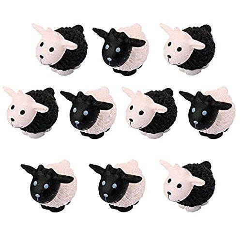Hezon Miniature Fairy Garden Ornaments Sheep Bonsai Dollhouse Decoration(Random Color) (Moss Sheep)