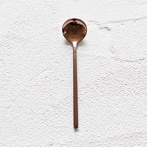 Cubiertos Creative Cuchara De Café Molido De Acero Inoxidable 304 Cuchara De Agitación Cuchara De Postre Leche De Té Cuchara De Yogur Utensilios De Café, Cuchara De Café De Oro Rosa: Amazon.es: