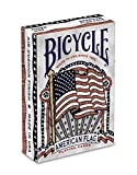 Bicycle American Flag Deck Poker Size Standard Index Playing Cards, American Flag Deck (2 Packs) by Bicycle