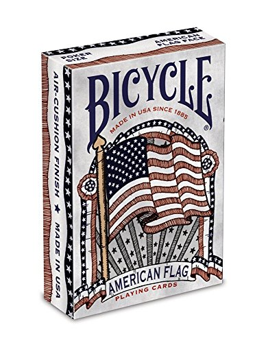 Bicycle American Flag Deck Poker Size Standard Index Playing Cards, American Flag Deck (2 Packs) by Bicycle by Bicycle