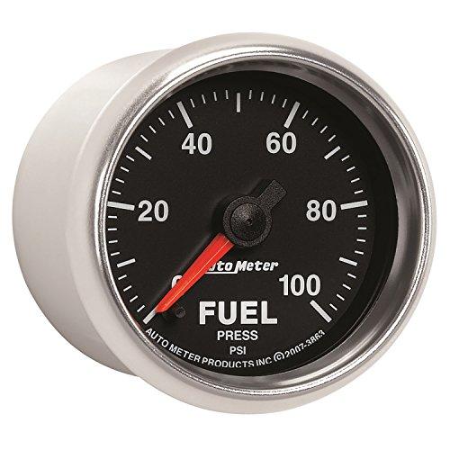"Auto Meter 3863 GS 2-1/16"" 0-100 PSI Full Sweep Electric Fuel Pressure Gauge"