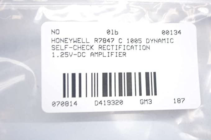 R7847C1005 HONEYWELL CONTROL R7847 C 1005 DYNAMIC SELF-CHECK RECTIFICATION FLAME AMPLIFIER - - Amazon.com