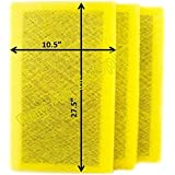 StratosAire Air Cleaner Replacement Filter Pads 12x30 Refills (3 Pack) YELLOW