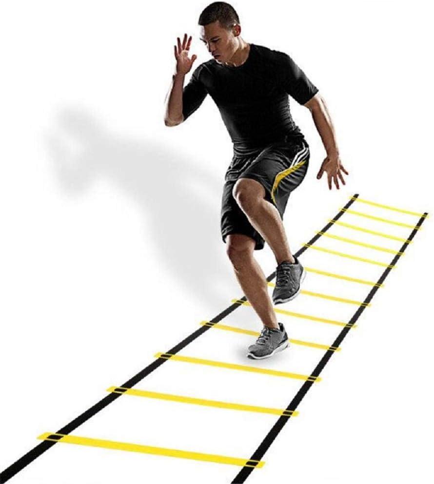 BXWBH - Escalera ágil para entrenamiento de ritmo, escalera, escalera, suave, escalera, entramado sensible para fútbol, baloncesto, entrenamiento y deportes: Amazon.es: Deportes y aire libre