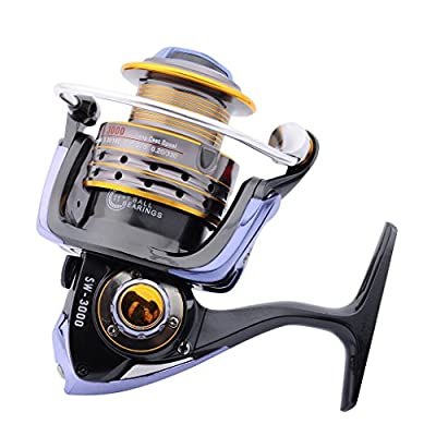Supertrip Saltwater Spinning Reel Carbon Fiber 44.1 LBs Max Drag Brass Gears Metal Strong Corrosion Resistance Stainless Steel Fishing Reels