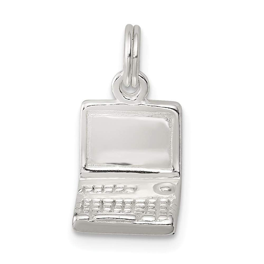Beautiful Sterling silver 925 sterling Sterling Silver Laptop Charm
