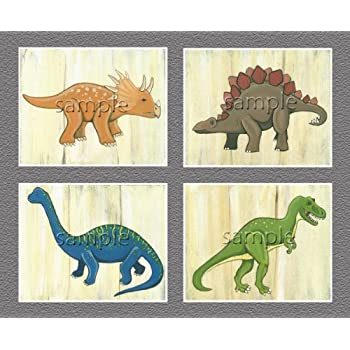 Dinosaur Kids/boys Nursery Wall Art Prints (8 Part 3