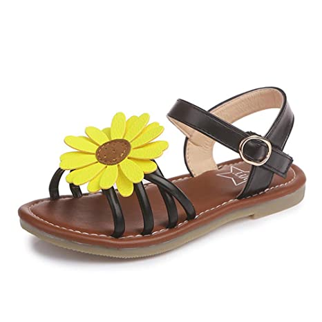 754afe874 Amazon.com  Bokun Summer Kids Shoes for Girls Baby Girls Sandals Children  Sun Flowers Shoes Dress Shoes  Sports   Outdoors