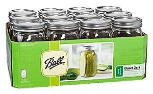 32oz Ball Wide Mouth Mason Canning Jars Lids