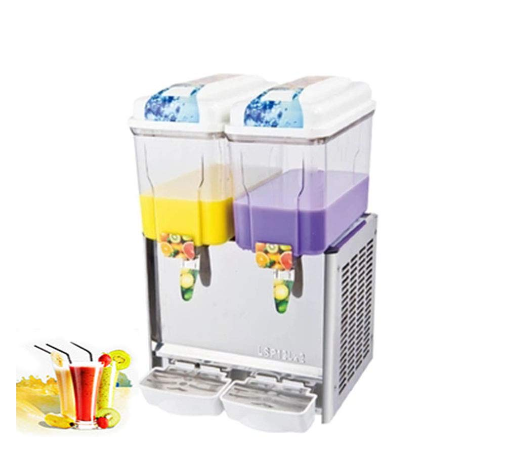 CGOLDENWALL Commercial Beverage Machine Automatic Juice Dispenser Stainless Steel Beverage Machine Cold&Hot Drink Machine Cold Beverage Machine Beer Machine 12L Single/Double/Three Tanks (Two Tanks, Single Cold) by CGOLDENWALL (Image #1)