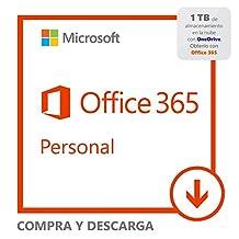 Office 365 Personal 32/64 Bits Susripción anual. Todos los idiomas. Descargable Win/Mac