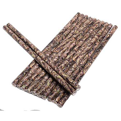 Camo Drinking Straws (12 Pack) Hunting Camo Party Collection by Havercamp ()