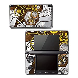 Retro Steampunk Time Machine Pocket Watch Art Video Game Vinyl Decal Skin Sticker Cover for Original Nintendo 3DS System