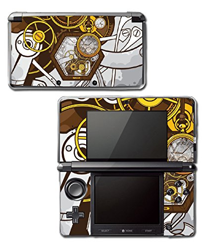 Retro Steampunk Time Machine Pocket Watch Art Video Game Vinyl Decal Skin Sticker Cover for Original Nintendo 3DS System 3