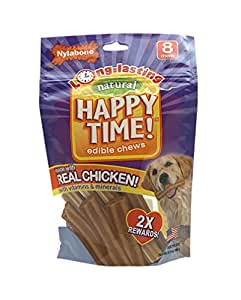 Nylabone Happy Time Small Chicken Flavored Dog Treat Bones