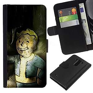 All Phone Most Case / Oferta Especial Cáscara Funda de cuero Monedero Cubierta de proteccion Caso / Wallet Case for LG G3 // Vintage Retro Vault Boy Grunge