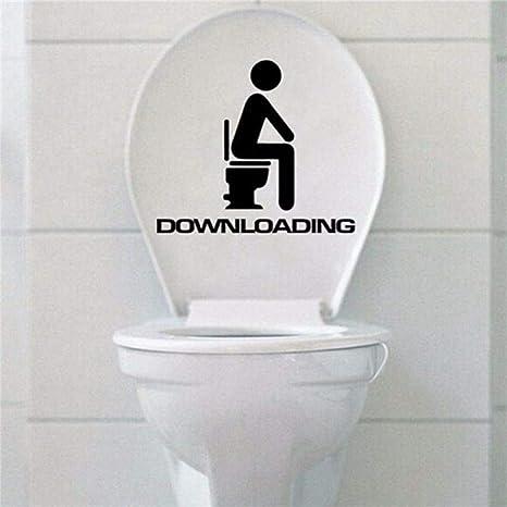 KIHUI Extraíble Asiento de Inodoro Divertido Descarga WC ...