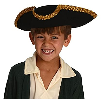 Kangaroo Kids Revolutionary War Deluxe Colonial Tricorn Hat  sc 1 st  Amazon.com : tricorn hat costume  - Germanpascual.Com