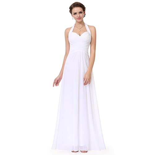 Ever Pretty Womens Elegant Ruched Halter Long Evening Gown 08487