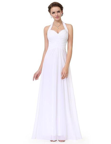 a41b56677d Ever-Pretty Hálter Vestido Largo de Fiesta Noche para Mujer de Ceremonia  Boda 08487  Amazon.es  Ropa y accesorios