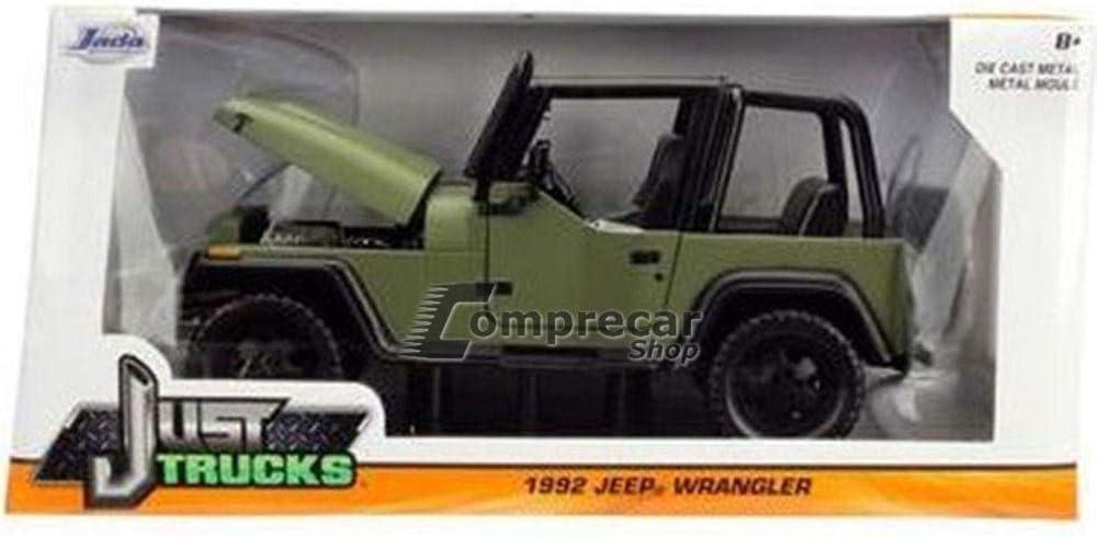 en Miniatura Rojo /Wrangler 1992/Jeep Escala 1//24 98081r Jada Toys/