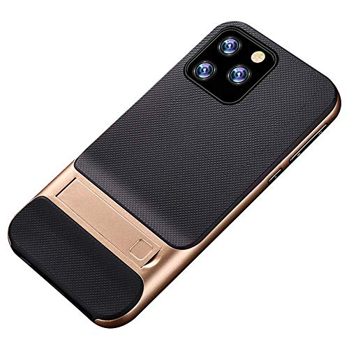Case Compatible with iPhone 11Pro Phone Cover Providing Protection Smart Phone PC+TPU Kickstand Shell (iPhone 11Pro, Golden)