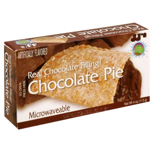 JJs Bakery Lightly Glazed Snack Pies 4oz Pack Of 6 Chocolate