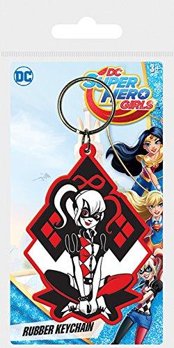 DC Comics DC Super Hero Girls-Harley Quinn - Llavero de goma ...