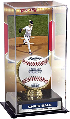 Sports Memorabilia Chris Sale Boston Red Sox 2018 MLB World Series Champions Sublimated Display Case with Image - Baseball Other Display Cases