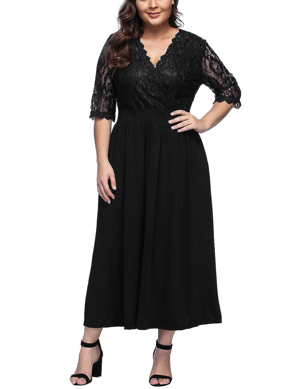 TALLA XXL/ES 50-52. FeelinGirl 1950 Año Retro A-Línea Falda de Fiesta para Mujer Negro-127 XXL/ES 50-52