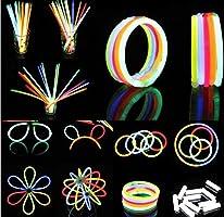 BBM 100 Varitas Luminosas Pulseras Luminosas Para Fiestas Formar Pulseras, Collares, Pendientes, Gafas e Incluso Flores Entretenido Para Niños