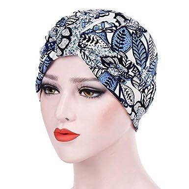 Turbante per Donna la Perdita di Capelli Cancro Chemioterapia Cuffia da Notte in Cotone per Chemio Ciclismo Cappello Beanie Slouchy Hat SUMTTER