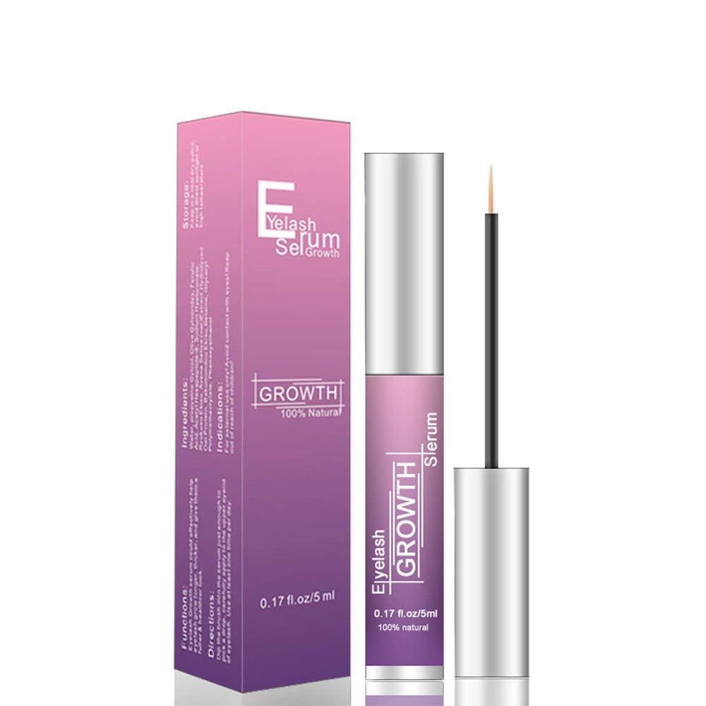 Eyelash Serum Eyelash Growth Serum Lash Enhancer Serum Eyelash Booster for Longer Fuller Eyelashes Eyebrow Enhancer Serum 5ml purple