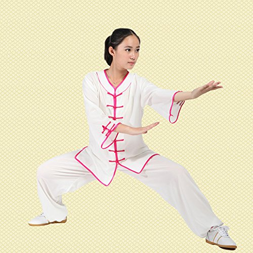 High Quality Women Cotton & Silk Half-Sleeve Taichi Uniform Martial Arts Clothing