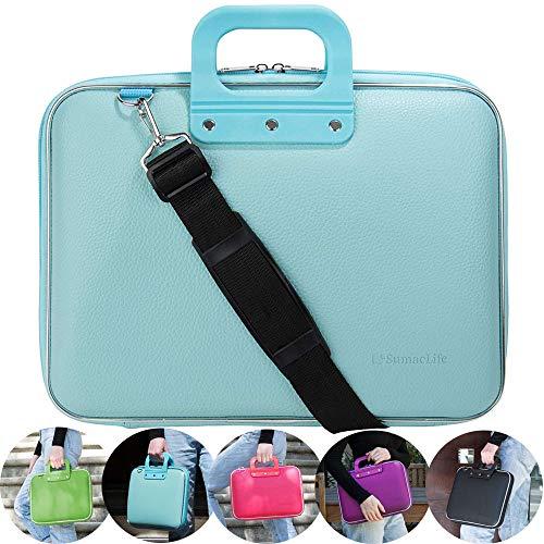 10.6 inch Leather Shoulder Messenger Bag Carrying Case Handbag Tablet Briefcase Waterproof Hard Shell Laptop Computer Crossbody Bag for Women/Men/College