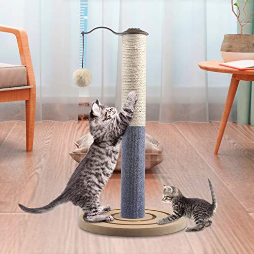 67i Kitten Cat Scratching Post for Indoor Cats Scratcher Cat Small Scratching Post Cat Sisal Rope 19.7\