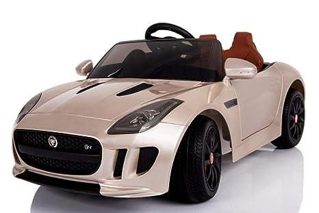 BC Babycoches, Coche electrico para niños F-Type Golden, Licencia Oficial Jaguar,