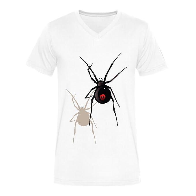 Amazon Com Customized Black Widow Spider Men V Neck T