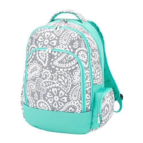 Reinforced Design Water Resistant Backpack - Parker Blue Grey Paisley