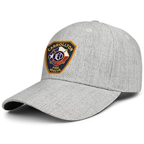 DXQIANG Carrollton Fire Rescue Unisex Baseball Cap Adjustable Dad Caps