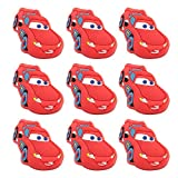 Cartoon Lightning Car Furniture Drawer Pull Knob Soft Silicone Safety Anti-Collision for Children Kids Bedroom Cabinet Kitchen Dresser Knobs Pulls Pack of 10