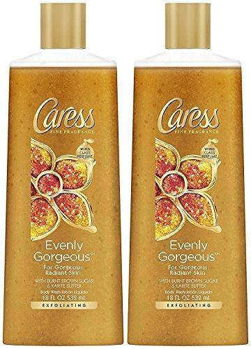 Caress Exfoliating Body Wash - Evenly Gorgeous - 18 oz - 2 pk