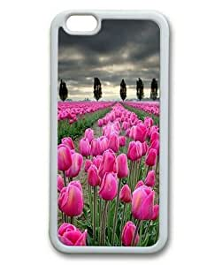 Armener iPhone 6 Plus (5.5 inch) White Sides Rubber Shell TPU Case With Tulips in Dark Sky wangjiang maoyi by lolosakes