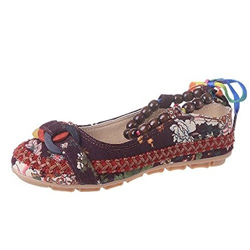 Med Leiligheter Sko Jane Kinesiske Kvinners Ballett Damer Loafers Beaded Strappy Mary Svart Blomster Vintage Brodert nBqYFA4