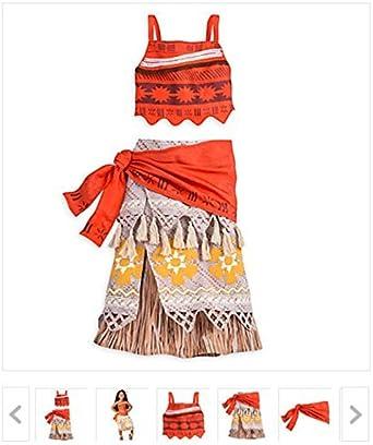 Disney New Store - Disfraz de Moana para niñas, talla 7/8: Amazon ...